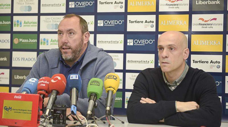 Rueda de prensa Oviedo Baloncesto Héctor Galán y Carles Marco