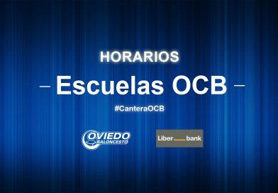 HORARIOS ESCUELAS OCB (15/12/18)