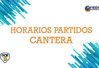 HORARIOS PARTIDOS CANTERA SEMANA DEL 11 AL 17 DE NOVIEMBRE