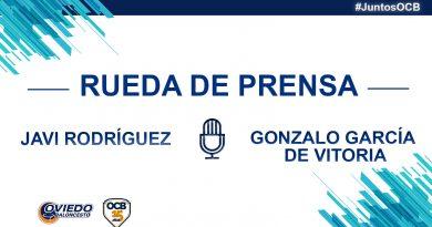 RUEDAS DE PRENSA DE JAVI RODRÍGUEZ Y GONZALO G. DE VITORIA