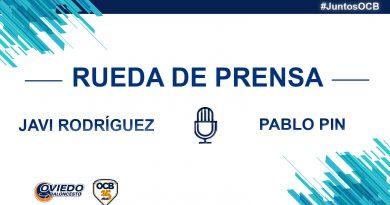 RUEDAS DE PRENSA DE JAVI RODRÍGUEZ Y PABLO PIN
