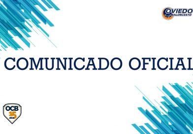 CIERRE DE LA OFICINA Y TIENDA DEL OVIEDO CLUB BALONCESTO