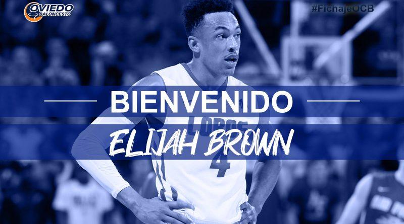 ELIJAH BROWN CIERRA LA LÍNEA EXTERIOR DEL LIBERBANK OVIEDO BALONCESTO